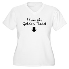 I have the Golden Ticke Women's Plus Size V-Neck T-Shirt