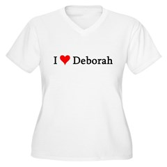 I Love Deborah Women's Plus Size V-Neck T-Shirt