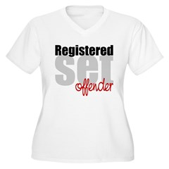 Registered Set Offender Women's Plus Size V-Neck T-Shirt
