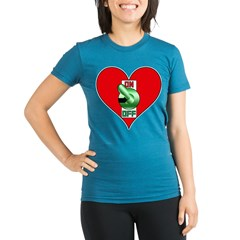 Heart On Organic Women's Fitted T-Shirt (dark)
