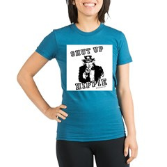 Shut up, Hippie - Organic Women's Fitted T-Shirt (dark)