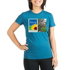 Eye on Gardening Tropical Plants Organic Women's Fitted T-Shirt (dark)