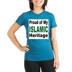 Proud Islamic Heritage Organic Women's Fitted T-Shirt (dark)