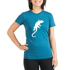 Gecko Icon Organic Women's Fitted T-Shirt (dark)