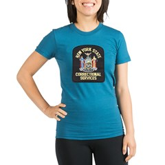 New York Corrections Organic Women's Fitted T-Shirt (dark)