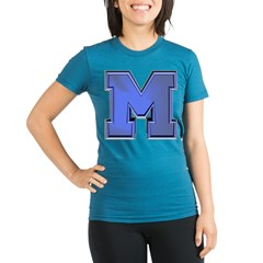 M Go Blue Organic Women's Fitted T-Shirt (dark)