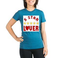 5 Star Lover Organic Women's Fitted T-Shirt (dark)