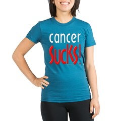 Cancer Sucks! Organic Women's Fitted T-Shirt (dark)