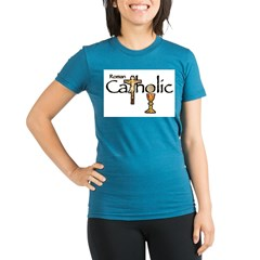 Proud to be Catholic Organic Women's Fitted T-Shirt (dark)
