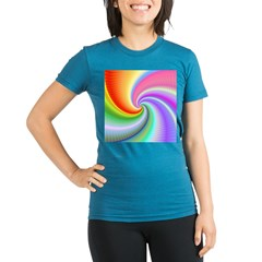 Rainbow Spiral Organic Women's Fitted T-Shirt (dark)