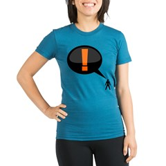 exclamation-dark Organic Women's Fitted T-Shirt (dark)