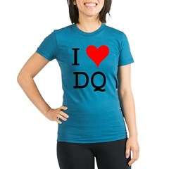 I Love DQ Organic Women's Fitted T-Shirt (dark)