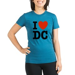 I Love DC Organic Women's Fitted T-Shirt (dark)
