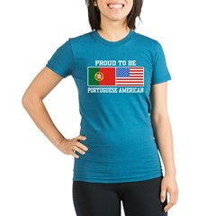 Portuguese American Organic Women's Fitted T-Shirt (dark)