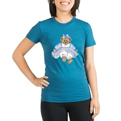 BEAR - BLUE DRESS Organic Women's Fitted T-Shirt (dark)