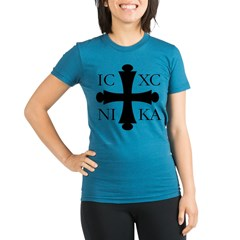 ICXC NIKA Organic Women's Fitted T-Shirt (dark)