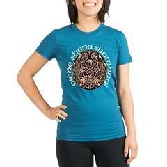 Gaelic Celtic Design Organic Women's Fitted T-Shirt (dark)