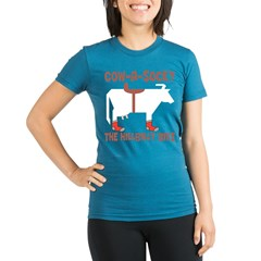 Cow-A-Socky Organic Women's Fitted T-Shirt (dark)