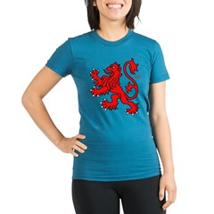 Scottish Lion Organic Women's Fitted T-Shirt (dark)