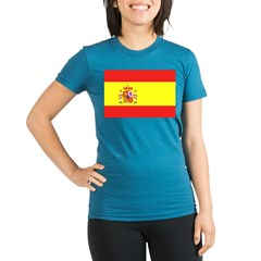Spanish Flag Organic Women's Fitted T-Shirt (dark)