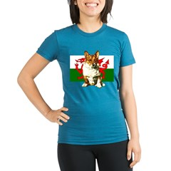Welsh Corgi Organic Women's Fitted T-Shirt (dark)