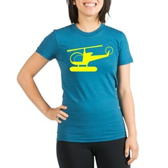Helicopter Organic Women's Fitted T-Shirt (dark)