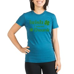Irish I were Drunk Organic Women's Fitted T-Shirt (dark)