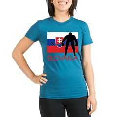 Slovak Hockey Organic Women's Fitted T-Shirt (dark)