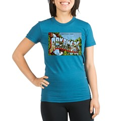 Arkansas Postcard Organic Women's Fitted T-Shirt (dark)