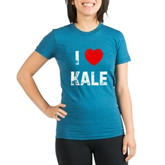 I * Kale Organic Women's Fitted T-Shirt (dark)