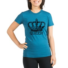 Queen Crown Organic Women's Fitted T-Shirt (dark)