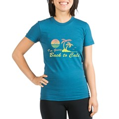 I'm Going Back to Cali Organic Women's Fitted T-Shirt (dark)