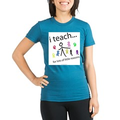 i teach ...little reasons Organic Women's Fitted T-Shirt (dark)