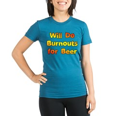 Burnouts For Beer Organic Women's Fitted T-Shirt (dark)