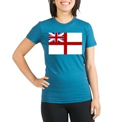 royal navy flag oblong.jpg Organic Women's Fitted T-Shirt (dark)