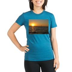 Sunset Organic Women's Fitted T-Shirt (dark)