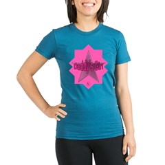 Daddy's Girl (Star) Organic Women's Fitted T-Shirt (dark)