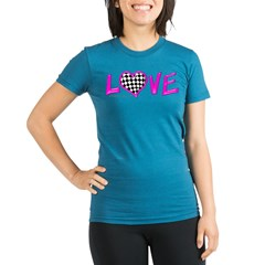 LOVE Racing Organic Women's Fitted T-Shirt (dark)