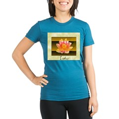 Good Morning Lotus Organic Women's Fitted T-Shirt (dark)