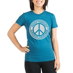 Peace Through Superior Firepo Organic Women's Fitted T-Shirt (dark)