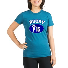 Fullbacks Play RUGBY Organic Women's Fitted T-Shirt (dark)