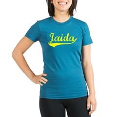 Vintage Jaida (Gold) Organic Women's Fitted T-Shirt (dark)