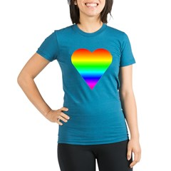 Trippy Heart 5 Organic Women's Fitted T-Shirt (dark)