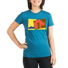 Cat Pose Organic Women's Fitted T-Shirt (dark)