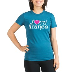 I Love My Fiance Organic Women's Fitted T-Shirt (dark)