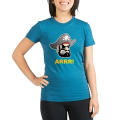 Arr Pirate Organic Women's Fitted T-Shirt (dark)