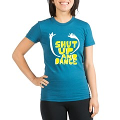 Shut Up And Dance Organic Women's Fitted T-Shirt (dark)