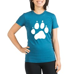Wolf Paw Organic Women's Fitted T-Shirt (dark)