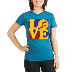 Orchestra Love Organic Women's Fitted T-Shirt (dark)