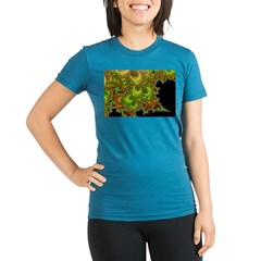 Foxfyre Fractal Organic Women's Fitted T-Shirt (dark)